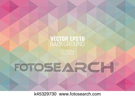clipart of hipster background made of triangles square composition
