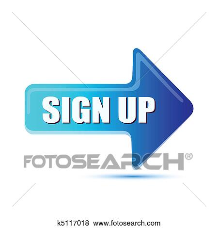 clip art of sign up arrow k5117018 search clipart illustration rh fotosearch com sign up today clipart sign in clipart