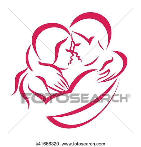 Galleria Di Illustrazioni Amore Romantico Coppia Icona K41666320