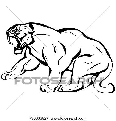 Stock Illustration Of Saber Tooth Tiger K30663827