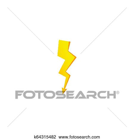 Simple Yellow Thunderbolt Icon Thunder Bolt And High Voltage Sign Clipart K64315482 Fotosearch