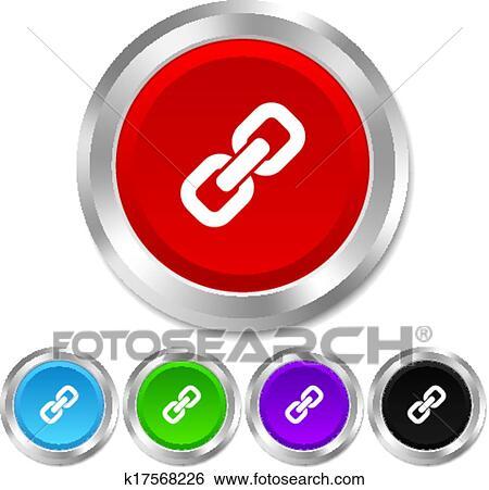 Clip Art - verbindung, zeichen, icon., hyperlink, symbol. k17568226 ...