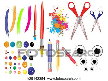 Stock Photo Of Craft Tools K29142354 Search Stock Images Mural