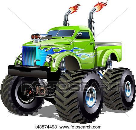 Clipart Dessin Animé Camion Monstre K48874498 Recherchez Des