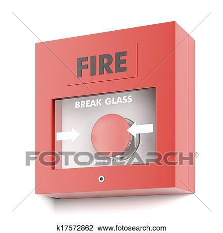 clip art of fire alarm k17572862 search clipart illustration rh fotosearch com Clip Art Smoke Alarm Clip Art Smoke Alarm