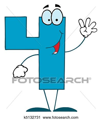 clipart of funny cartoon numbers 4 k5132731 search clip art rh fotosearch com number 4 clipart free