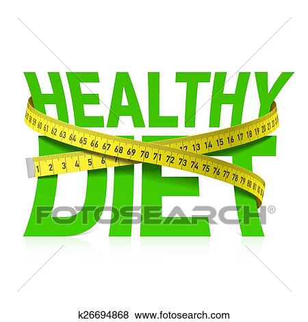 clip art of healthy diet phrase with measuring k26694868 search rh fotosearch com healthy food clipart free healthy food clipart black and white