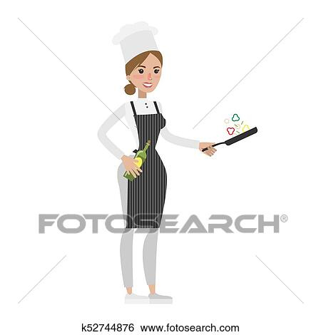 Clipart Isolé Femme Chef K52744876 Recherchez Des Cliparts