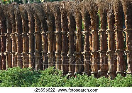 japonaise, bambou, barrière banque d'image | k25695622 | fotosearch