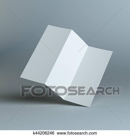 Stock Illustraties - leeg, drie, vouw, mal, papier k44206246 - Zoek ...