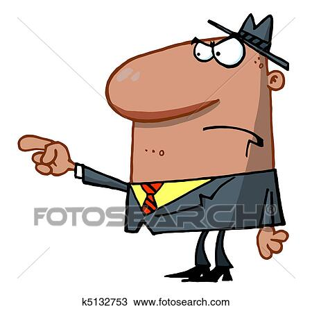 clipart of man pointing the blame k5132753 search clip art rh fotosearch com angry businessman clipart angry businessman clipart