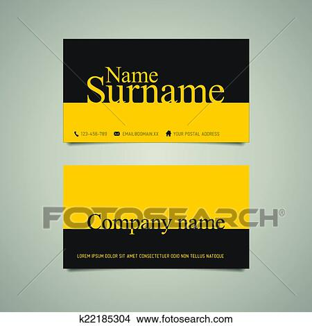 Clipart of modern simple business card template with big name clipart modern simple business card template with big name fotosearch search clip art friedricerecipe Choice Image