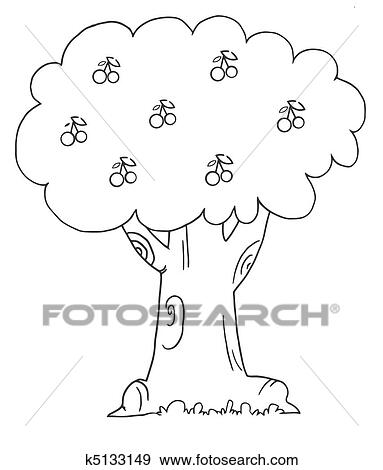 View Outline Cherry Blossom Coloring Page