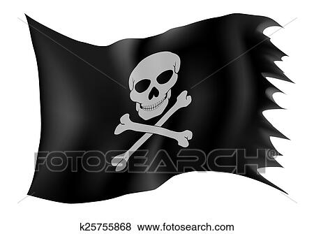 clip art of pirate flag vector illustration k25755868 search