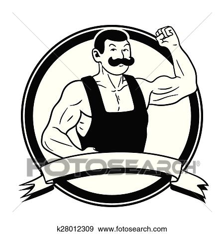 clip art of strongman k28012309 search clipart illustration rh fotosearch com strong man clipart images