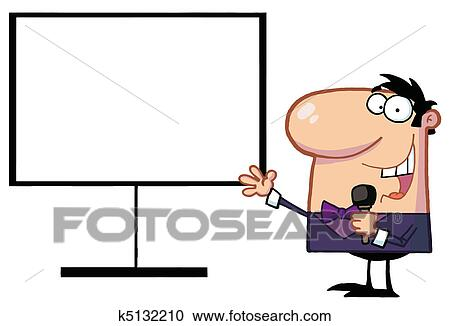 clipart of talk show host beside a blank board k5132210 search rh fotosearch com talk back clipart let's talk clipart