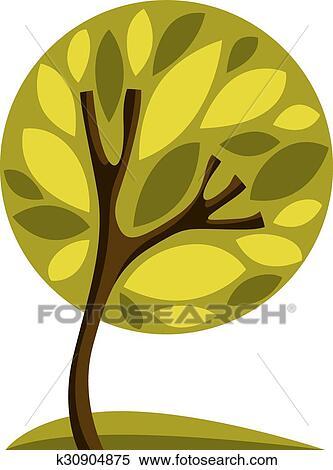 Clipart Arte Stilizzato Albero Disegno Simbolo K30904875