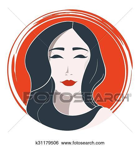 Clipart Femme Japonaise Mode K31179506 Recherchez Des Cliparts