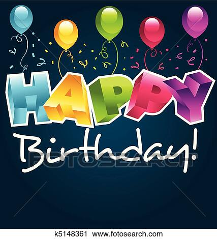Clipart Of Happy Birthday Card K5148361 Search Clip Art