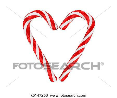 Christmas Candies.Heart Made From Christmas Candies Isolated Stock Illustration