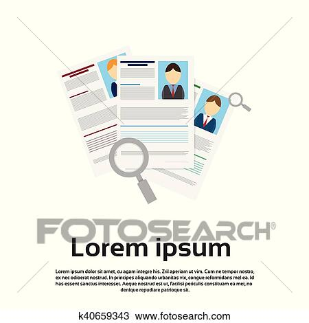 Clipart Of Magnifying Glass Choose Curriculum Vitae Recruitment