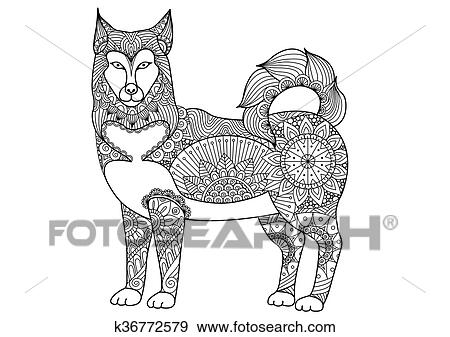 Clip Art - perro de alaska de alaska k36772579 - Buscar Clip Art ...