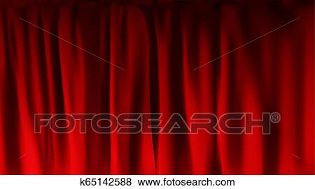 Illustration Of A Theater Stage With Red Velvet Curtains Royalty Free  Cliparts, Vectors, And Stock Illustration. Image 24539029.