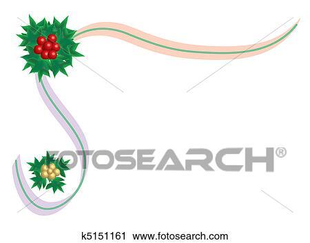 Ribbon Border Clip Art - Royalty Free - GoGraph