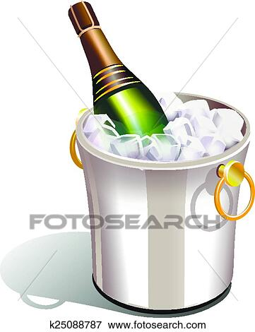 clip art of cooler with champagne k25088787 search clipart rh fotosearch com champagne clip art free champagne clip art transparent