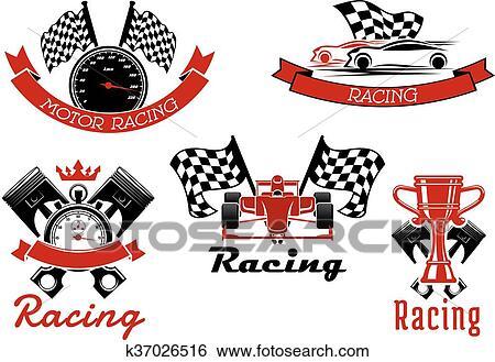 clipart emballage automatique sport symboles voitures course k37026516 recherchez des. Black Bedroom Furniture Sets. Home Design Ideas