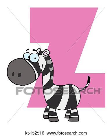 Lettera z con uno zebra clip art k fotosearch