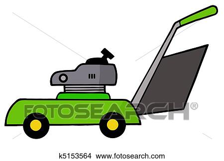 clipart of mower k5153564 search clip art illustration murals rh fotosearch com clip art lawn mower man clip art lawn mower guy