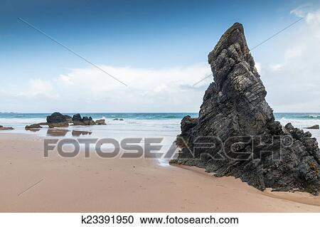 Rocks At Famous Sango Beach Bay Near Durness Northern Scotland