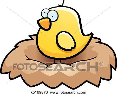 clip art of bird nest k5169876 search clipart illustration rh fotosearch com bird nest clipart bird nest clip art transparent background