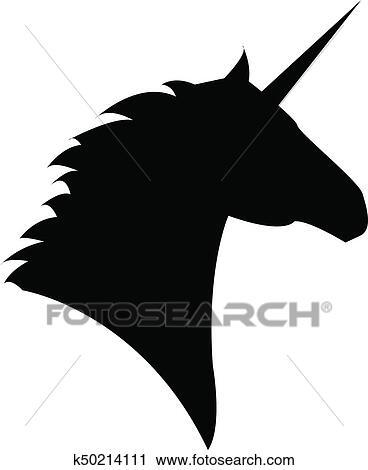 Licorne Tête Mythique Cheval Clipart