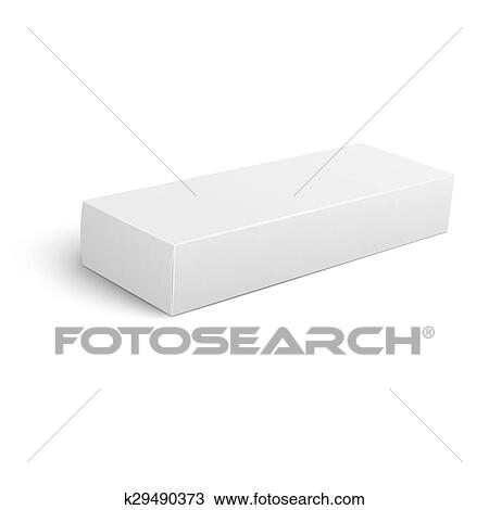 Clipart of Long blank cardboard box template. k29490373 - Search ...