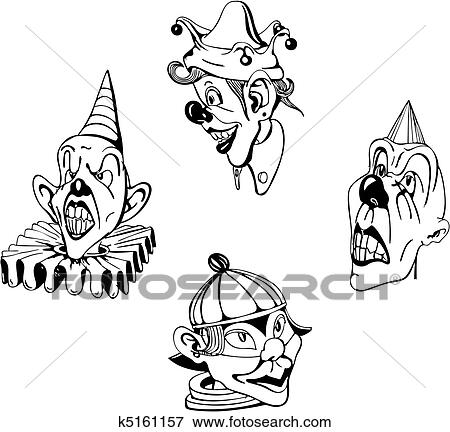 Louco Palhacos Clipart K5161157 Fotosearch