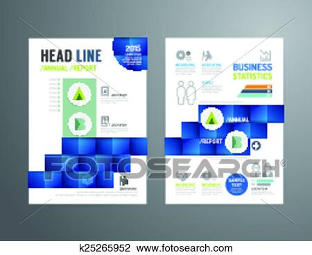 Clipart of Vector brochure, flyer, magazine cover booklet poster ...