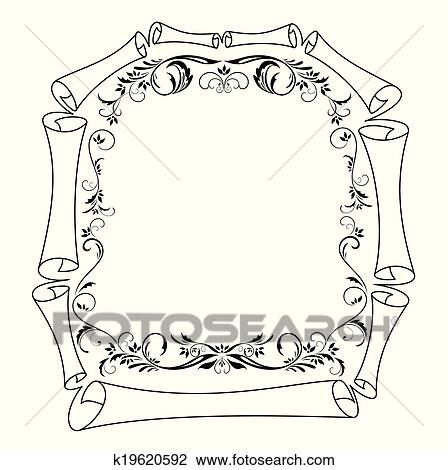 Clipart of Vintage frame k19620592 - Search Clip Art, Illustration ...