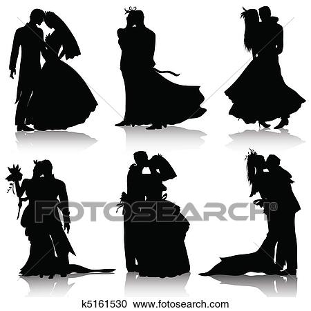 Clipart of wedding silhouettes k5161530 search clip art bridal wear love marriage married matrimony wedding graphic flower ceremony background black bouquet bride clip collection couple dating junglespirit Gallery
