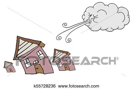 Cloud blowing wind clipart. Commercial use GIF, JPG, WMF, SVG clipart #  151074 | Graphics Factory