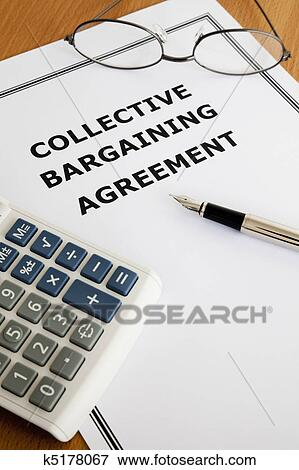 Picture Of Collective Bargaining Agreement K5178067 Search Stock