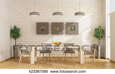 Contemporáneo, comedor Colección de ilustraciones | k23367585 ...