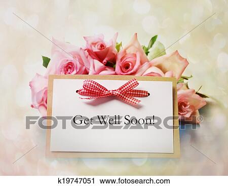 Stock photography of get well soon greeting card k19747051 search stock photography get well soon greeting card fotosearch search stock photos pictures m4hsunfo