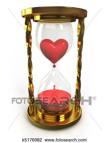 clip art of golden hourglass with heart and blood k5176982 search rh fotosearch com hourglass clipart free hourglass clip art free