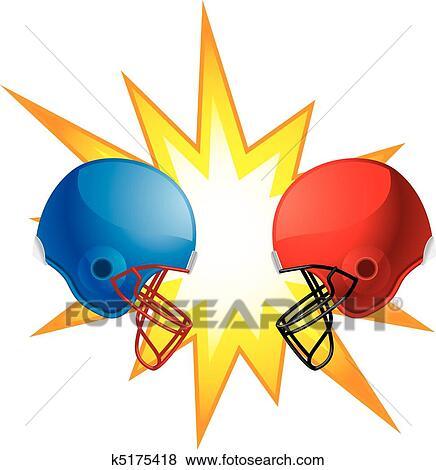 clip art of helmets clashing k5175418 search clipart illustration rh fotosearch com revival clip art free revival clip art for churches