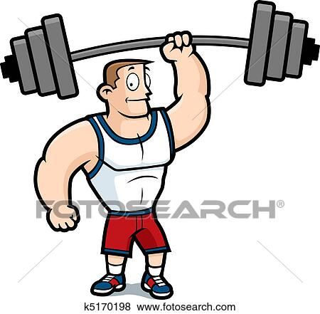 clip art of lifting weights k5170198 search clipart illustration rh fotosearch com weight training clipart weightlifting clipart free