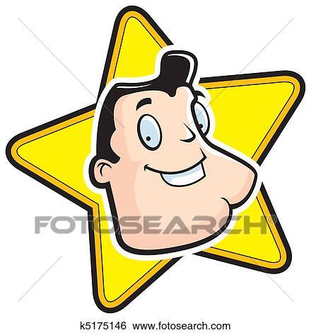 clip art of movie star k5175146 search clipart illustration rh fotosearch com Actress Clip Art star wars movie clip art