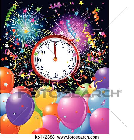 clip art new year midnight clock background fotosearch search clipart illustration posters