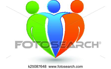 Partners friends logo Clip Art